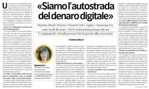 Autostrada del denaro digitale_Corriere Economia