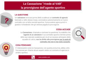 La Cassazione rivede al VAR la provvigione agente sportivo