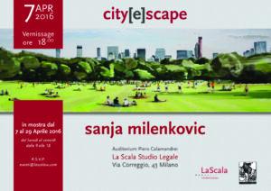 Vernissage Sanja Milenkovic - 7 aprile 2016
