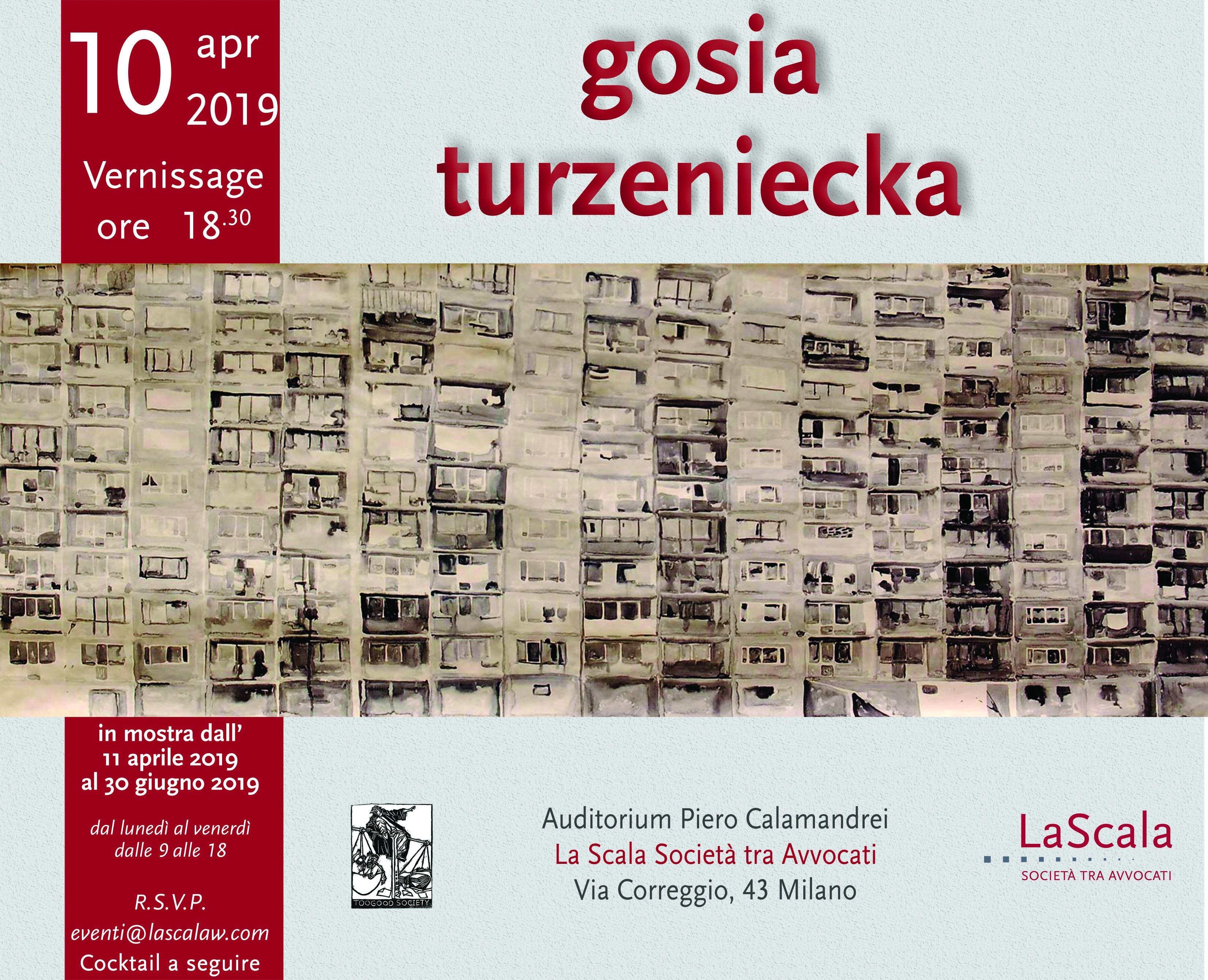 Il vernissage si terrà mercoledì 10 aprile alle ore 18.30, presso l'Auditorium Piero Calamandrei di La Scala Società tra Avvocati