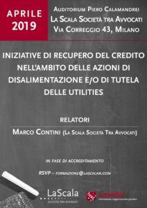Iniziative di recupero del credito nell'ambito delle azioni di disalimentazione e/o di tutela delle Utilities
