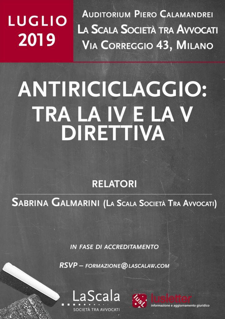 Antiriciclaggio: tra la IV e la V Direttiva